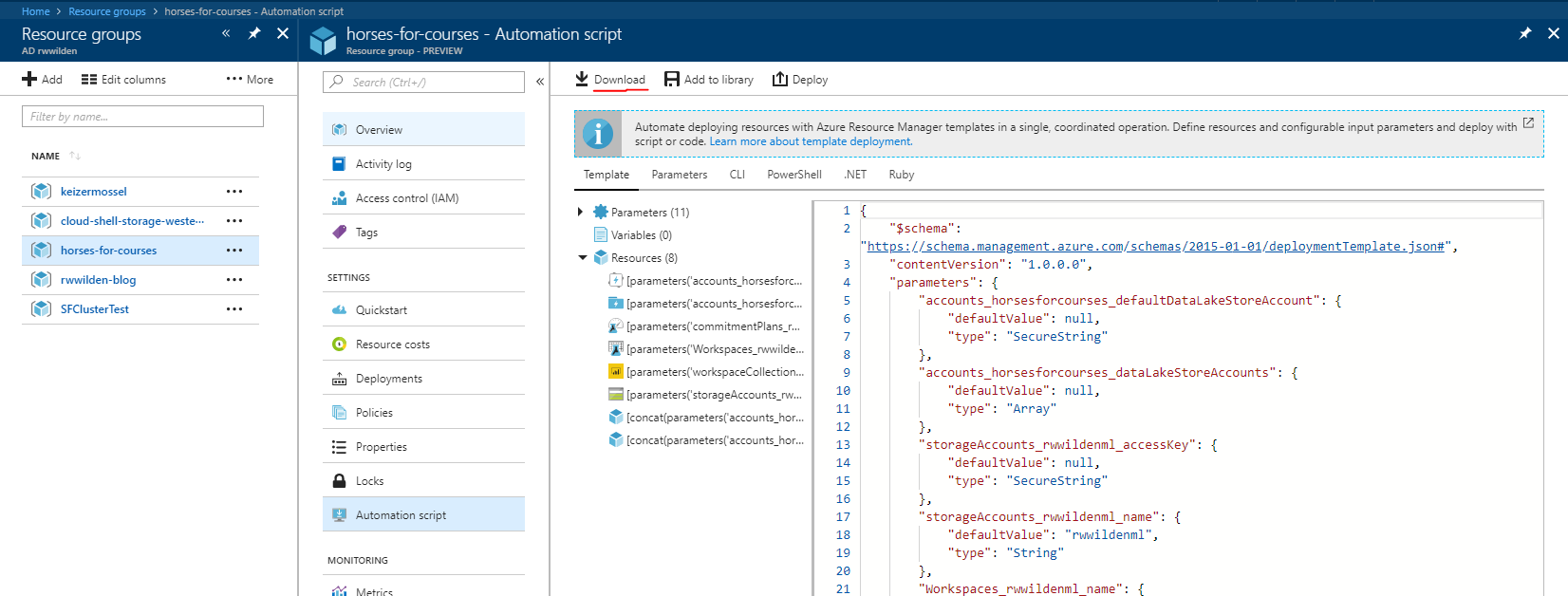 Tips for working with Azure Resource Manager (templates)